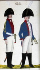 Dragoner und Offizier des Regiments Rouquette 1806