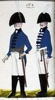 Dragoner und Offizier des Regiments Graf Herzberg 1806