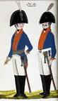 Dragoner und Offizier des Regiments vacant Manstein 1806