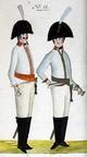 Kürassier und Offizier des Regiments Bünting 1806