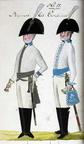Offizier und Kürassier vom Regiment Leib-Carabinier 1806