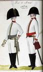 Offizier und Kürassier vom Regiment Gens d'Armes 1806