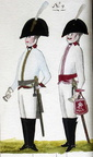 Kürassier und Offizier des Regiments Holtzendorff 1806