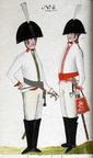 Offizier und Kürassier vom Regiment Quitzow 1806