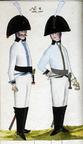 Kürassier und Offizier des Regiments Wagenfeld 1806