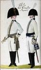 Offizier und Kürassier vom Leib-Regiment 1806
