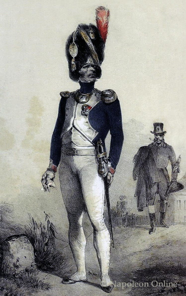 Gardegrenadiere zu Fuß, Capitaine in Großer Uniform