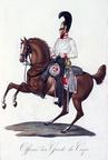 Offizier des Regiments Garde du Corps nach Jügel/Wolf